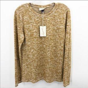 Universal Thread Cozy Gold Marl Knit Sweater NWT